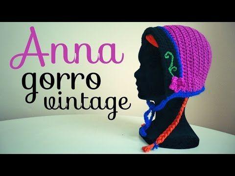 Gorro Vintage Inspirado en Anna (FROZEN) a Crochet - TODAS LAS TALL ...