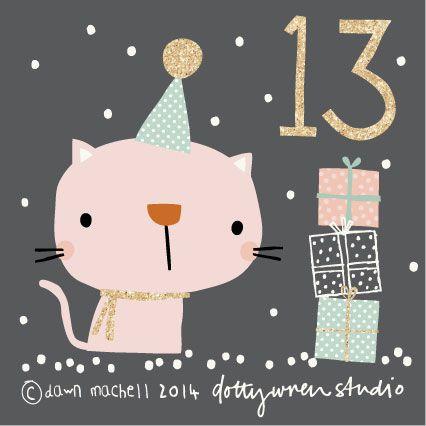 Weihnachtsgrüße Teenager.Advent 13 Dottywrenstudio Cute Christmas Calendar Christmas