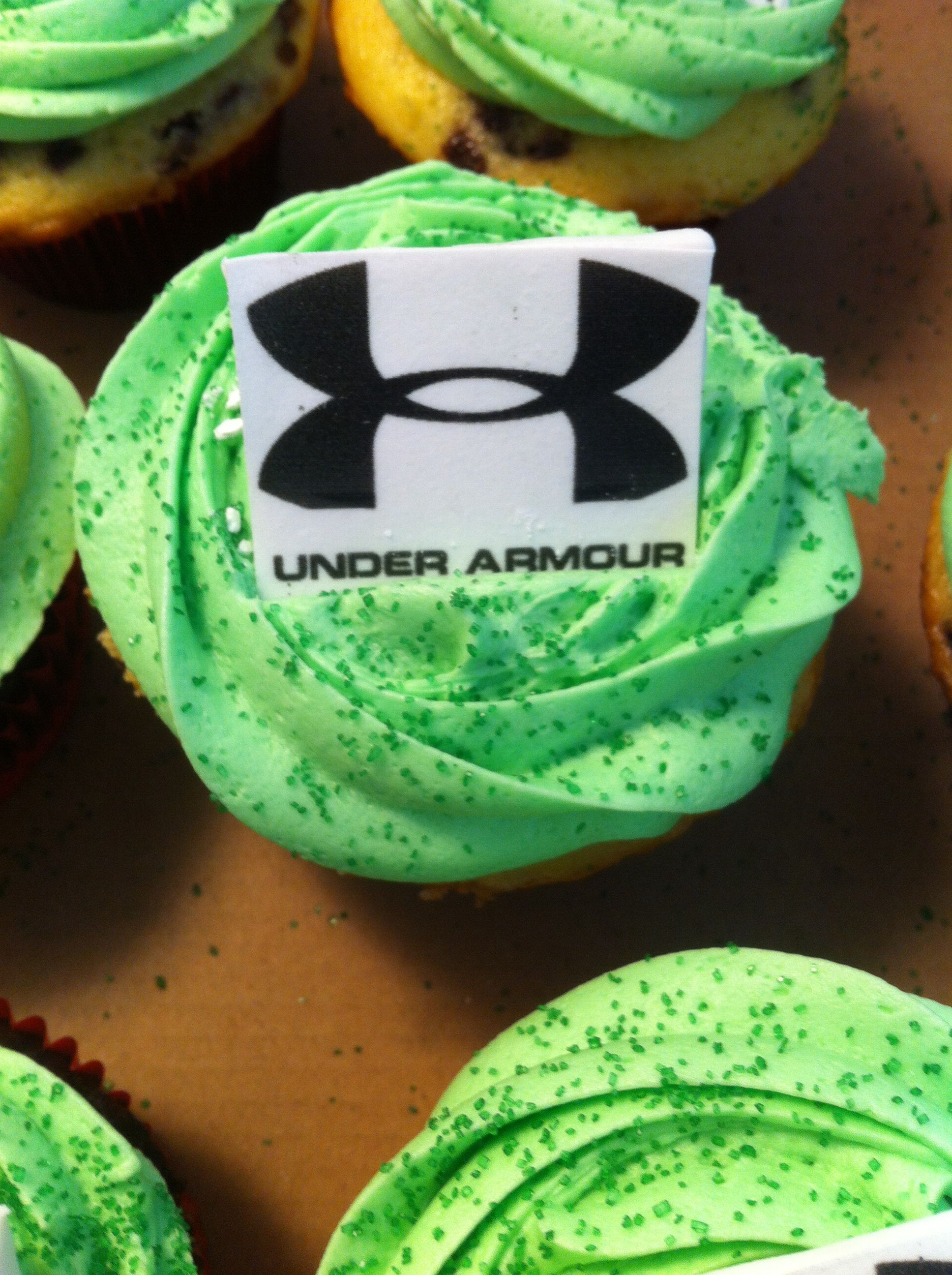 Under Armour Logo Cupcakes Made By Cakes By Kayley F O O D