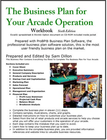 The Business Plan For Your Arcade Operation Business Planning How To Plan Business