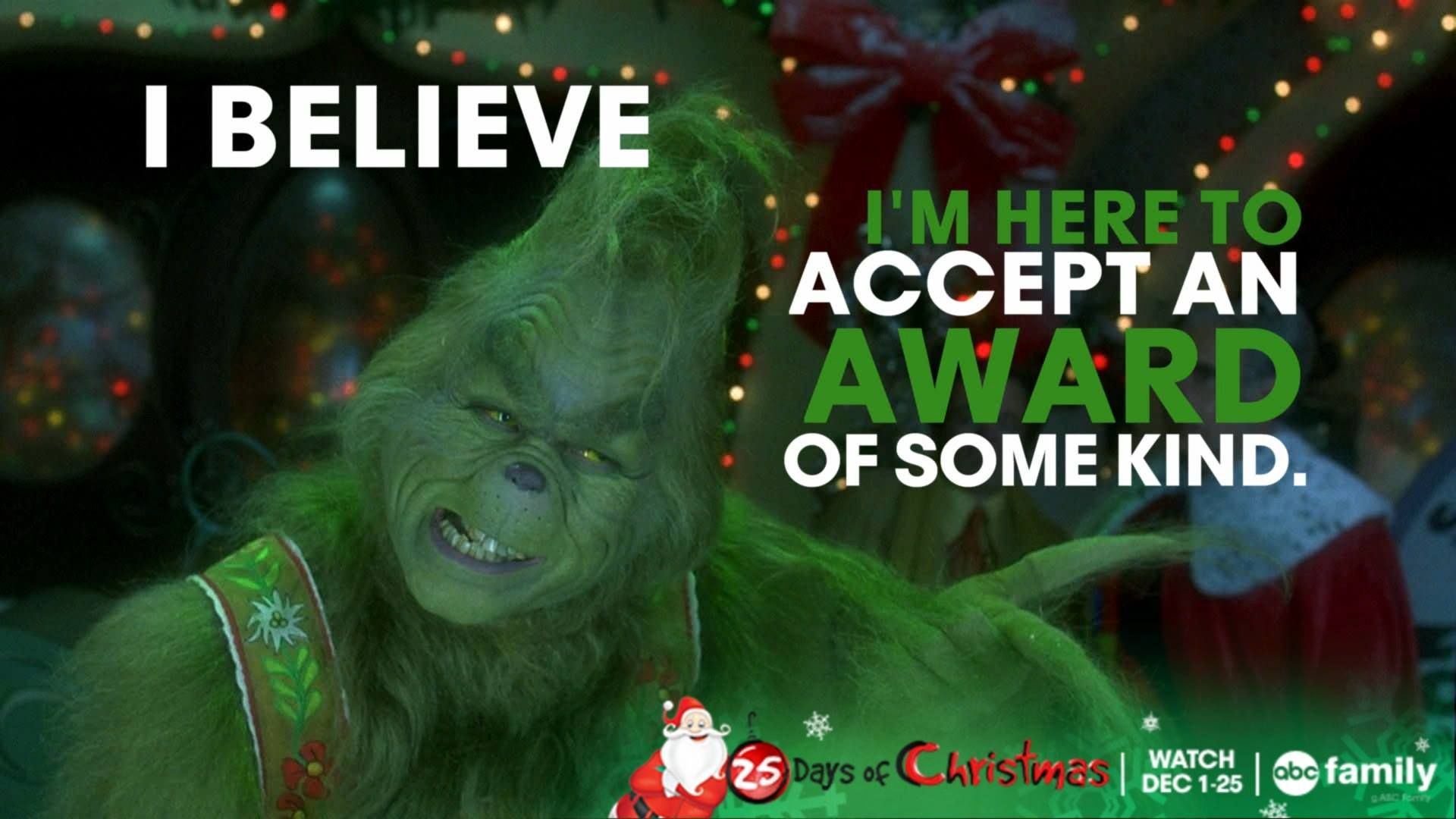 How did you guys like watching the Grinch last night? Here ...