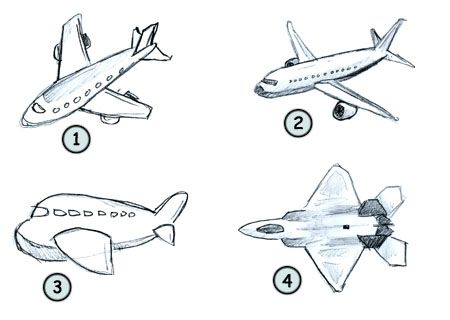 Drawing A Cartoon Airplane Cartoon Airplane Airplane Drawing
