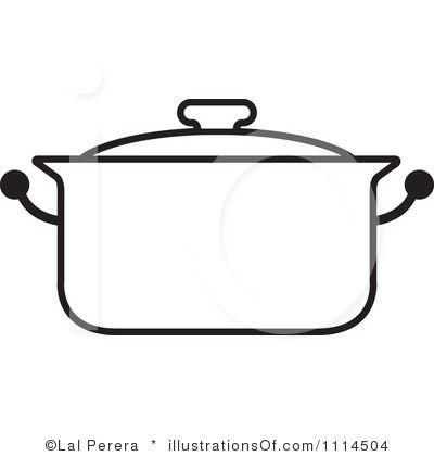 Clip Art Pot Clipart clip art black and white royalty free rf pot clipart illustration by lal perera stock pinterest pots illu