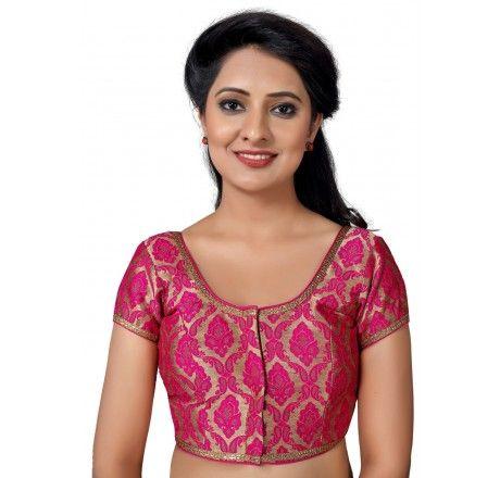 6c589e85d5a72 Muhenera front open designer padded saree blouse