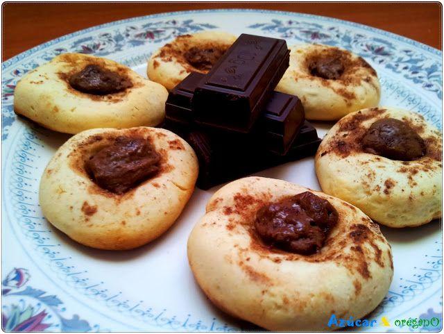 Galletas de dulce de leche y chocolate