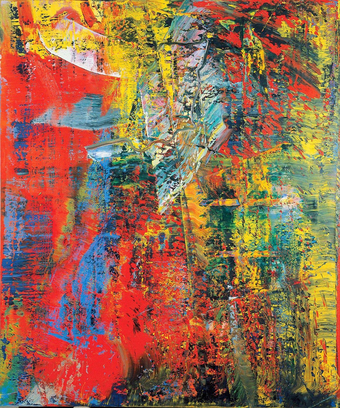 art gerhard richter fondation beyeler moderne abstrakte kunst malerei kunstproduktion bilder für wohnzimmer abstraktes bild schwarz weiß