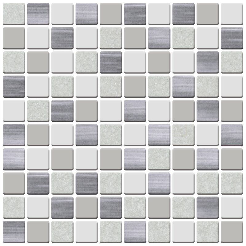 12 X 12 Vinyl Peel Stick Mosaic Tile In Beige Gray Mosaic Tiles Tile Floor Stick On Tiles