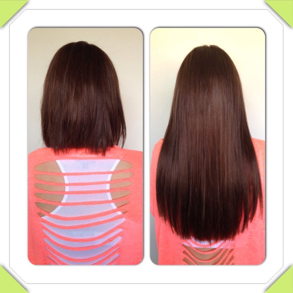 Before After Micro Rings Hair Extensions At Beautination