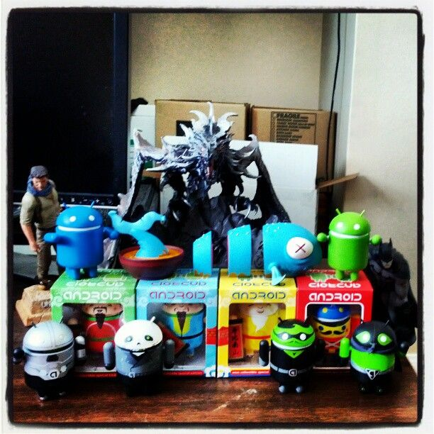 Took this picture of my Android Collection using the new Instagram app on Android. Kick-ass!
