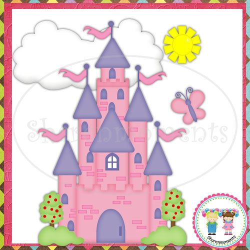 Once Upon a Time Castle   Digital Clipart by SharenmomentsClipart, $1.50