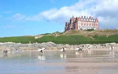Fistral Beach And The Headland Hotel