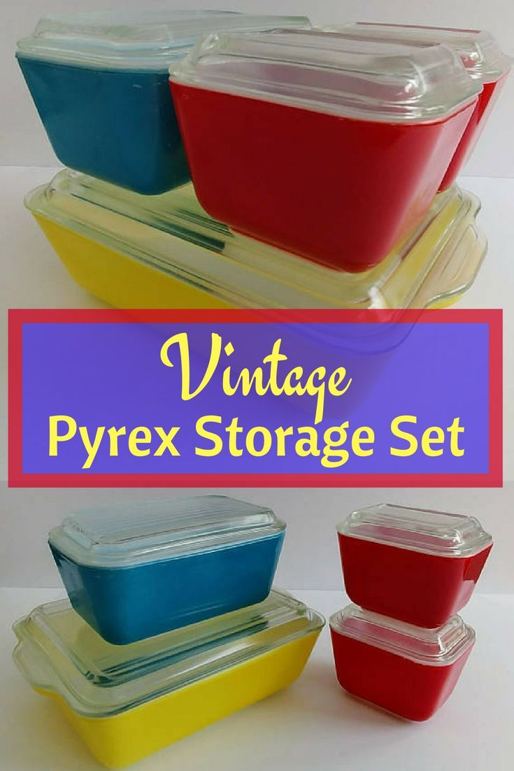 This is a complete set of Pyrex storage containers with glass lids