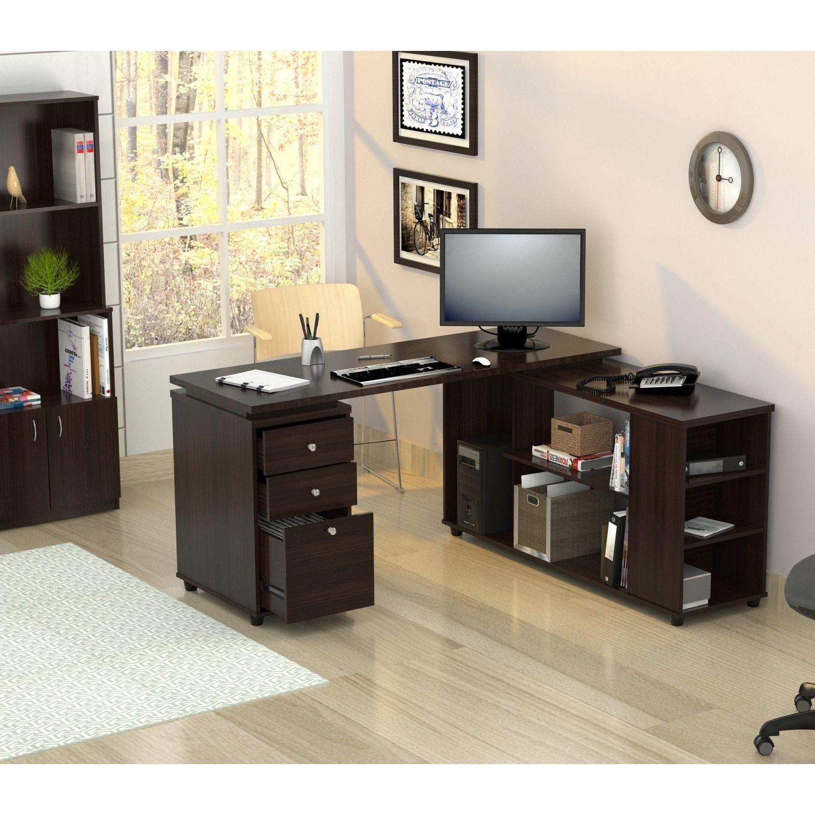 Inval L Shaped Computer Workstation Desk Home Decor