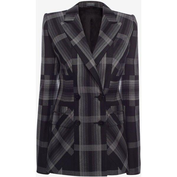 Tartan · Alexander McQueen Panelled Wool Plaid Jacket ...
