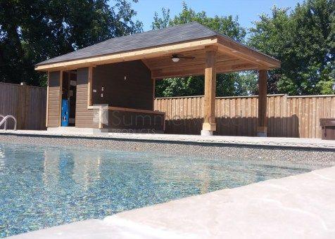Surfside Cabana Kits Pool Cabana With Bar Pool Houses Pool