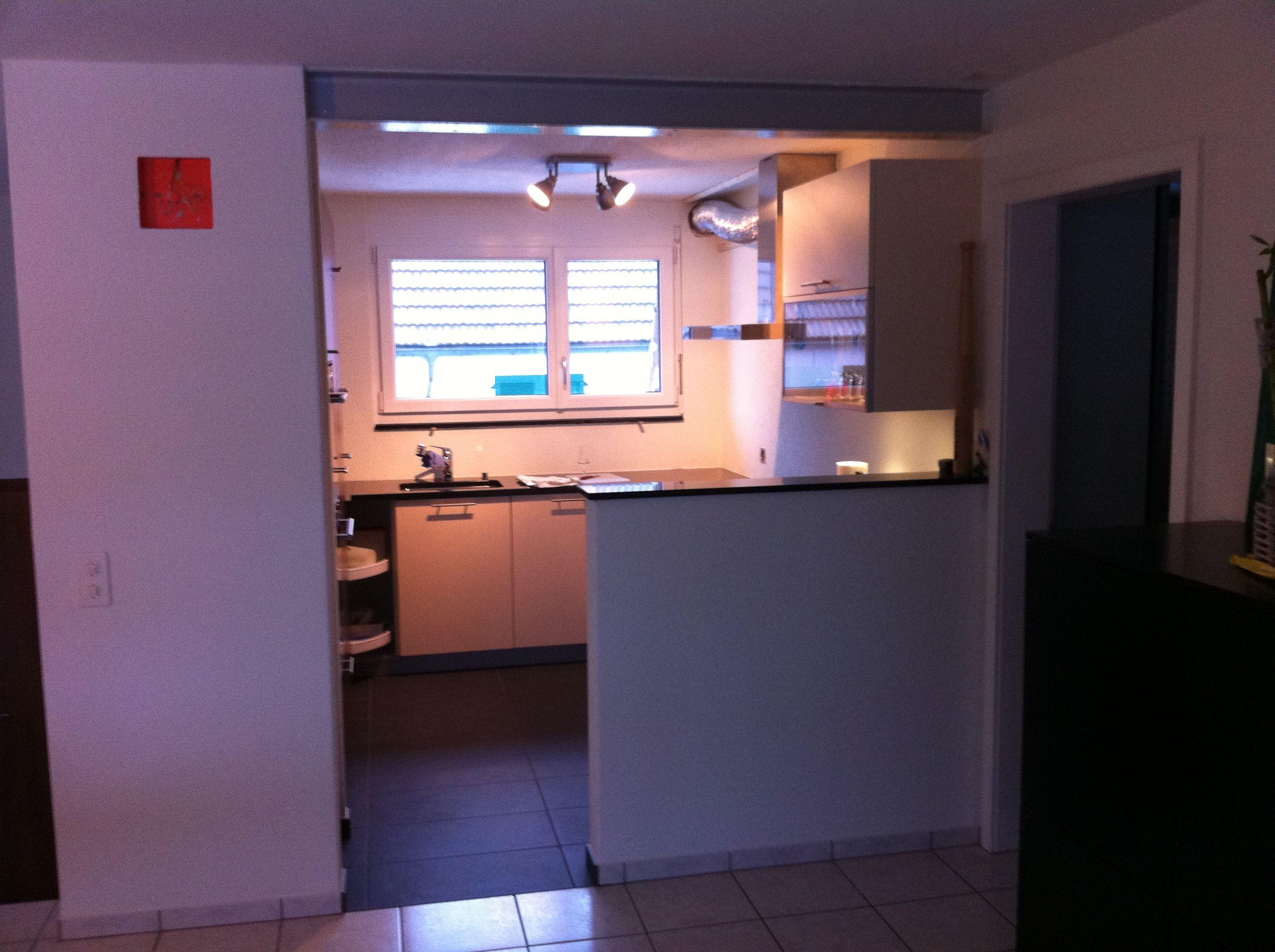 Kuche Mit Wohnzimmer Zusammen Ein Raum Zwischen Esszimmer Optisch Trennwand Wohnzimmer