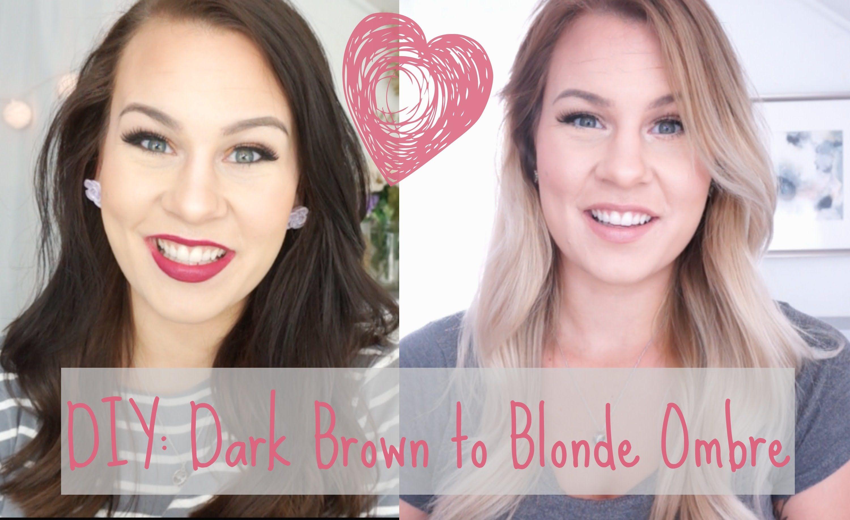 Diy Dark Brown To Blonde Ombre Balayage At Home Brown To Blonde