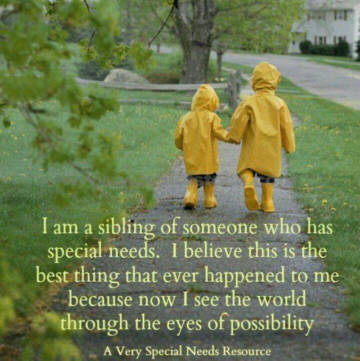 Brother And Sister Support Quotes: For My Kiddos! Special Needs Sibling. They Are Very