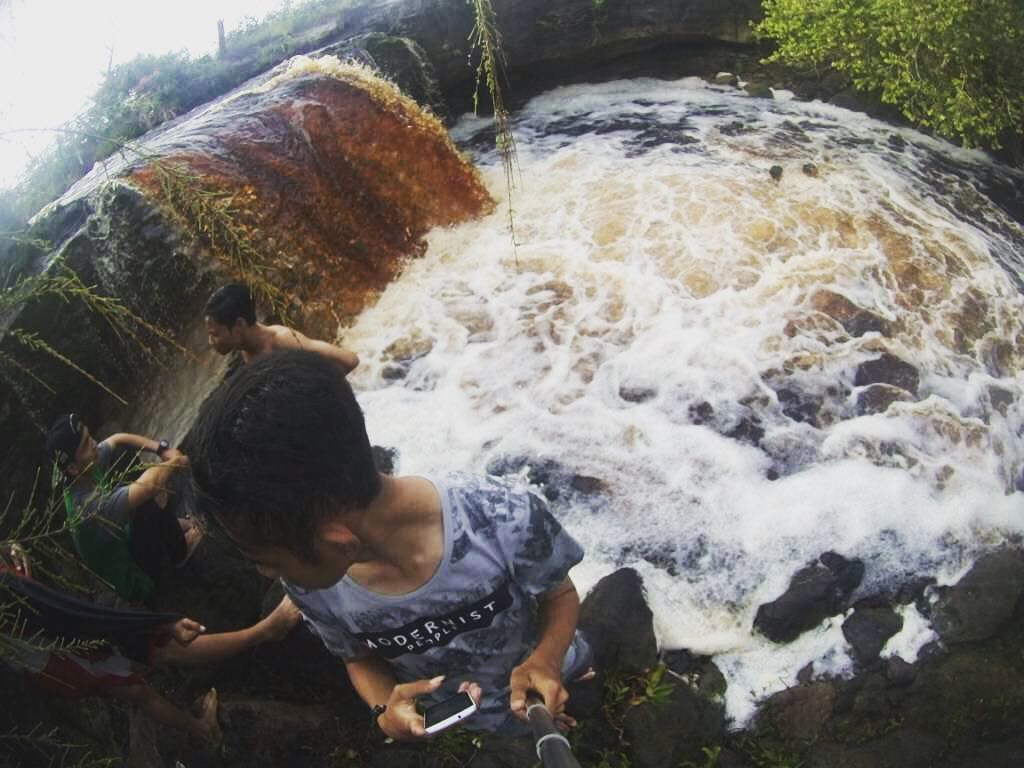Life is like a waterfall  it is always moving and there is always an uneven flow to it. . . . #me #myself #i #photography #nature #landscape #bpro #gopro #hunting #buhankuala #seruyan_ampunnya #nike #waterfall #idk #justloveit #earth #water #adventure #kalimantan by yunadilivanov