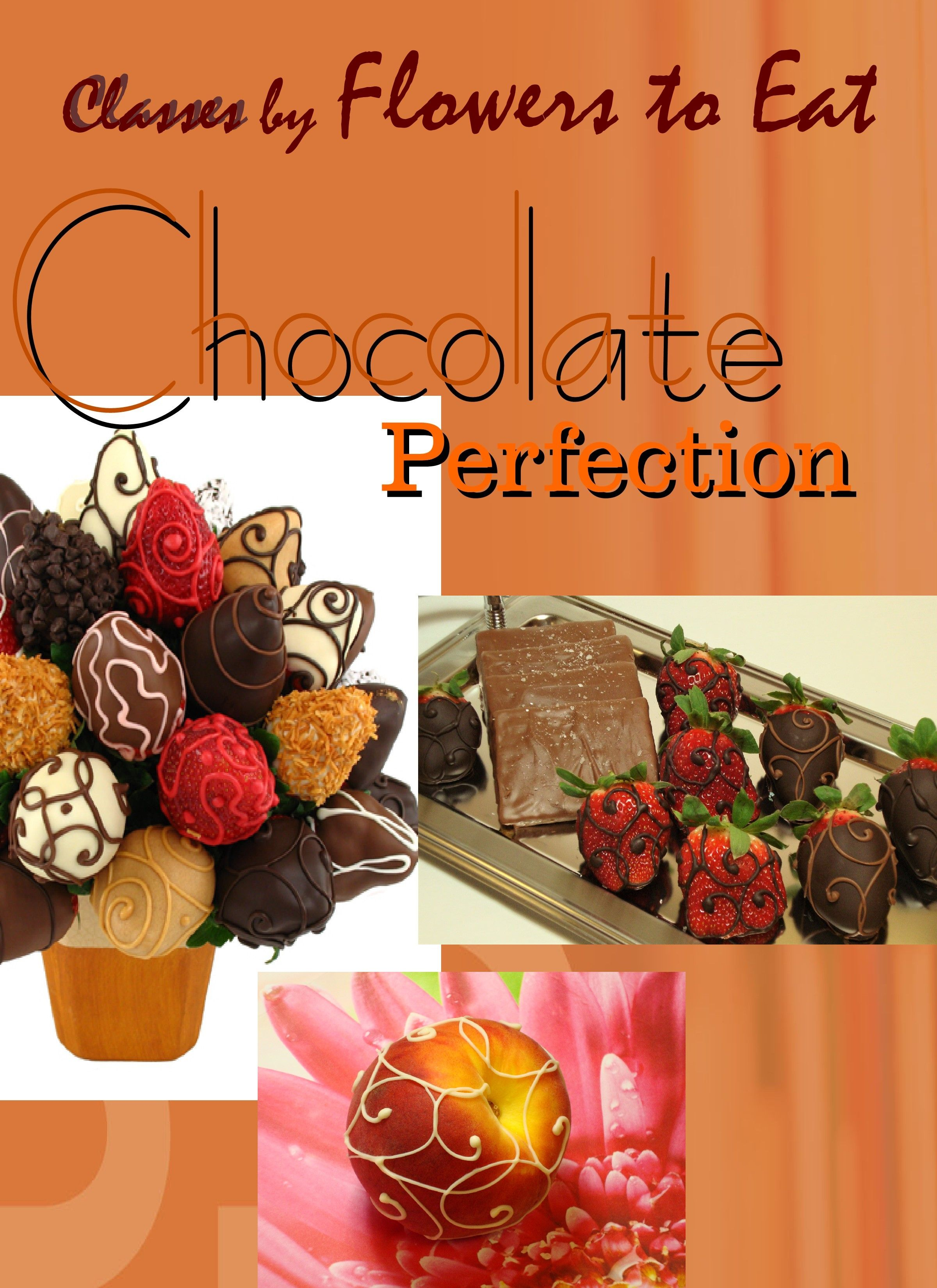 Working with chocolate and fruit!