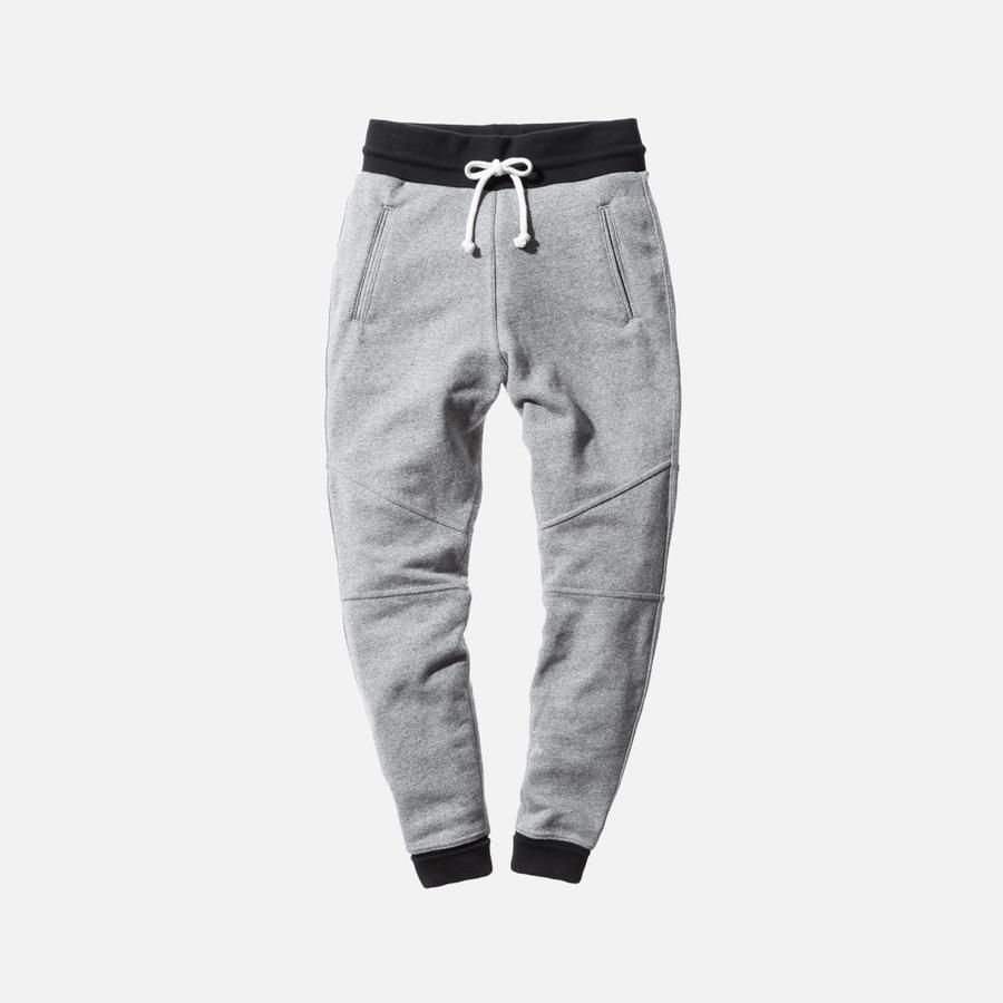 suitable for men/women on feet shots of volume large John Elliott Escobar Sweatpant - Grey / Black | Joggers in ...