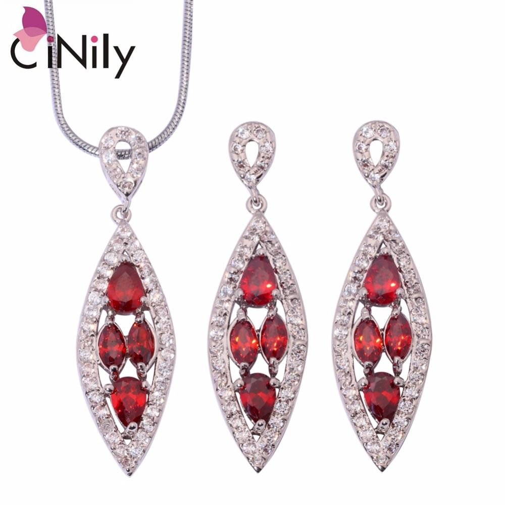 Garnet blue zircon cubic zirconia silver plated for women jewelry