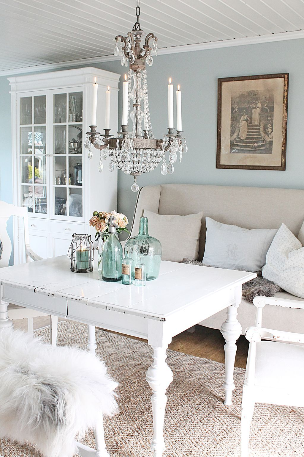 70 Beautiful White Shabby Chic Living Room Decoration Ideas Pleasing Shabby Chic Dining Room Table Inspiration