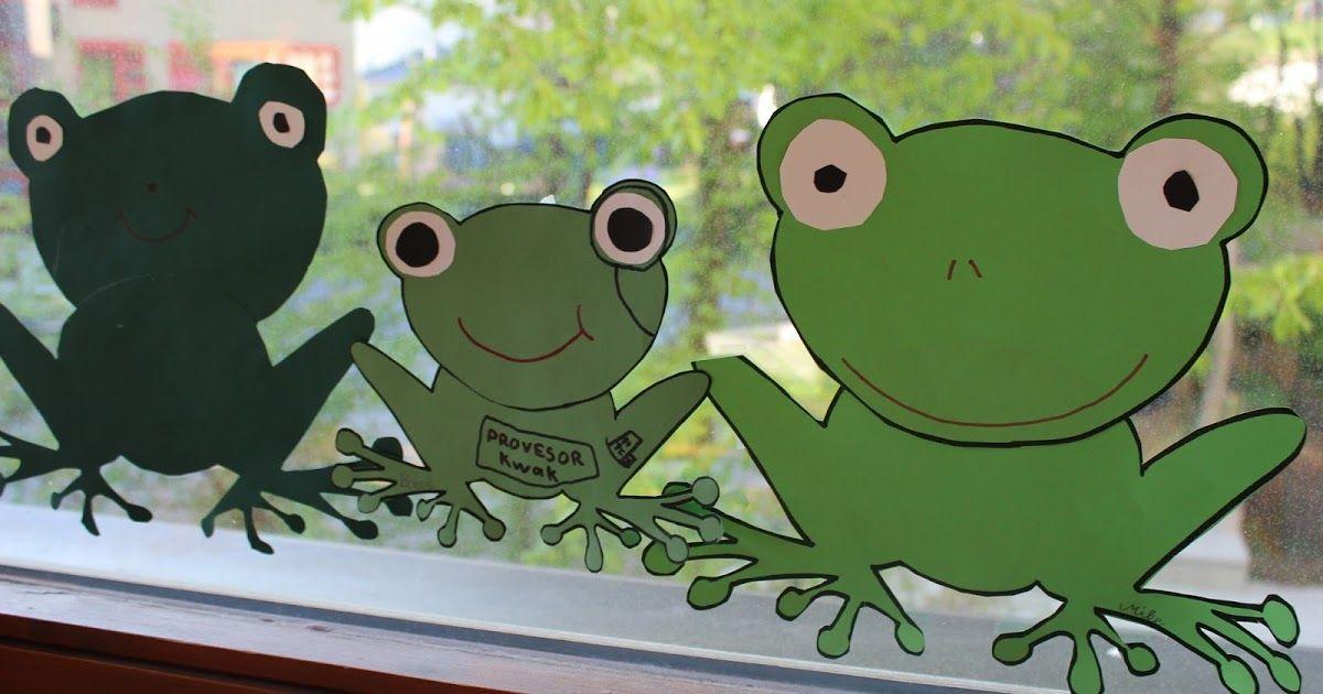 Fensterdeko Frösche Frosch basteln Basteln Bastelarbeiten