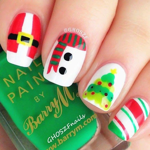Unhas para o Natal ~ Moda e Eu | Uñas | Pinterest | Natal, Esmalte y ...