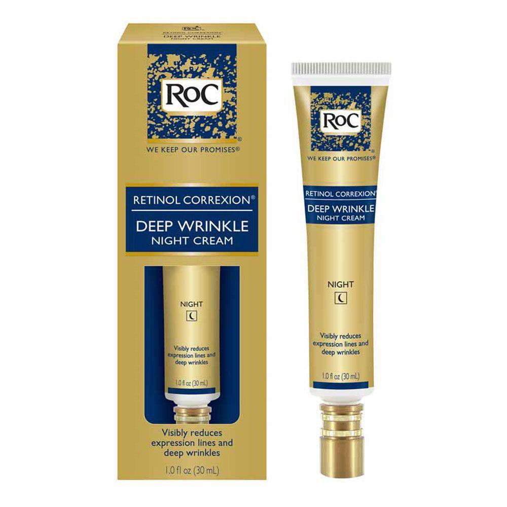 Roc Retinol Correxion Deep Wrinkle Anti Aging Night Face Cream 1oz Deep Wrinkles Retinol Night Face Cream