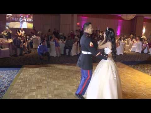 U S  MARINE BROTHER SURPRISE SISTER AT SWEET 16 PARTY