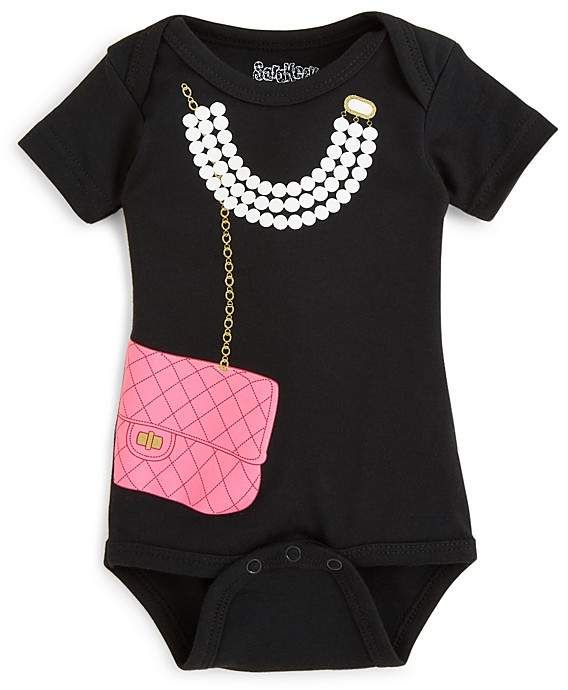 385bec3ae9bf Girls  Necklace   Purse Bodysuit - Baby stylish outfit  Baby  Style ...