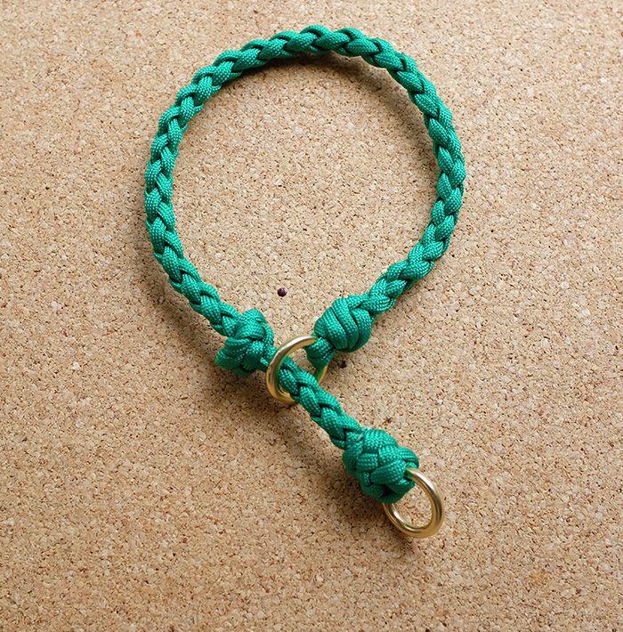 Choker dog collar, 550 paracord,4 strand round braid | cool