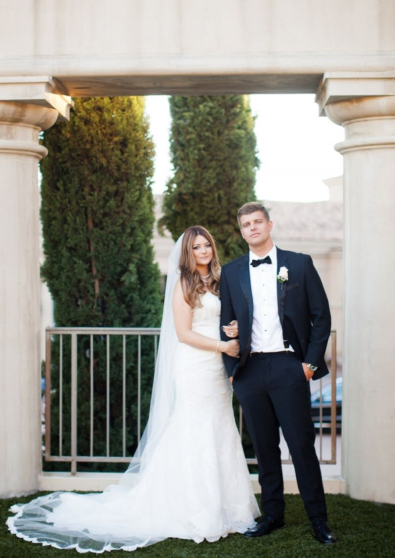 Moonlight Bridal Real Bride Brittany Style H1199 Newport Beach