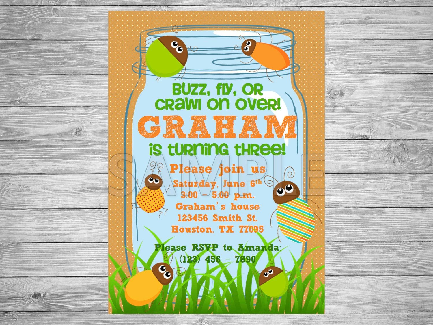 Bug Party Invitations how to make invitations online for free – Insect Birthday Invitations