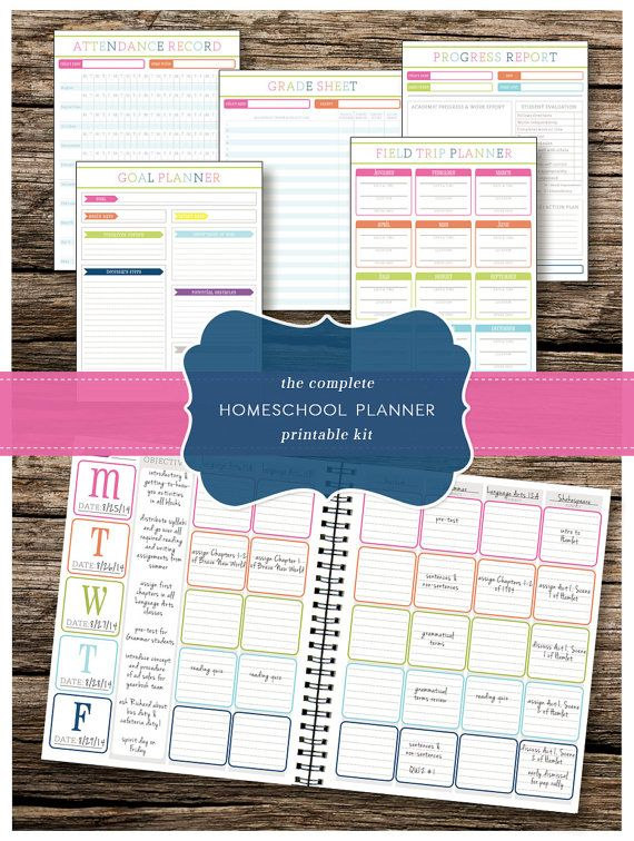 The Complete Homeschool Planning Kit  Includes Lesson Planner