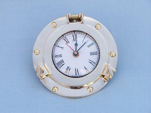 """Brass Porthole Clock 11"""" Porthole Clocks"""