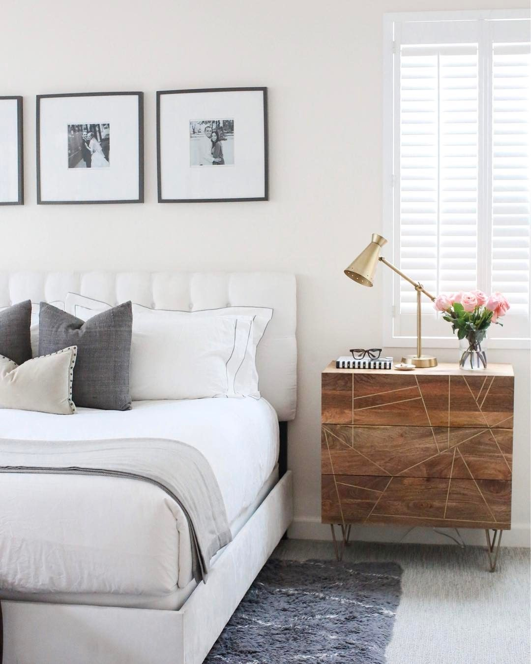 Clean And Modern Style Bedroom Merricksart Bedroom Has An Elevated Simple Style With Her Simpl Modern Style Bedroom Bedroom Interior Interior Design Bedroom