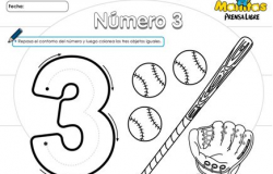 Número 3   Luzecita   Pinterest   Números, Trabajos para preescolar ...