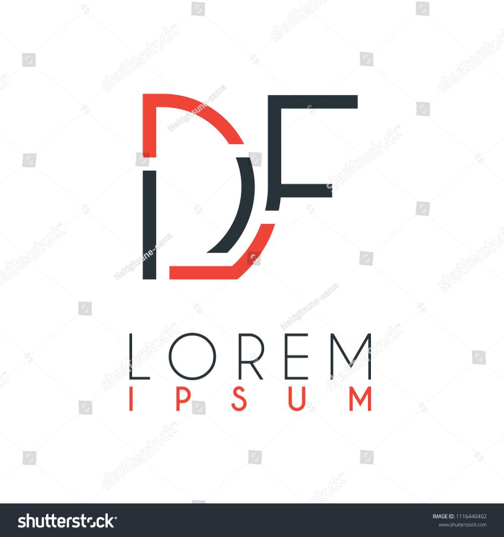 Logo Between Letter D Letter F Stock Vector logo