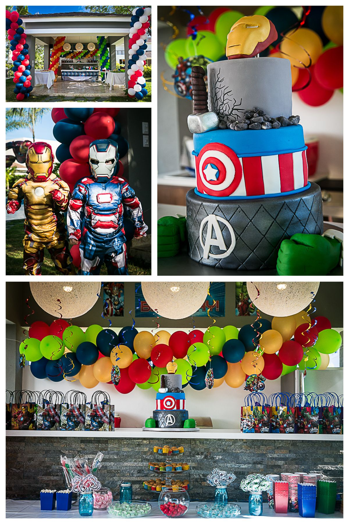 Avengers Age of Ultron and Ironman Kids Birthday Party ideas
