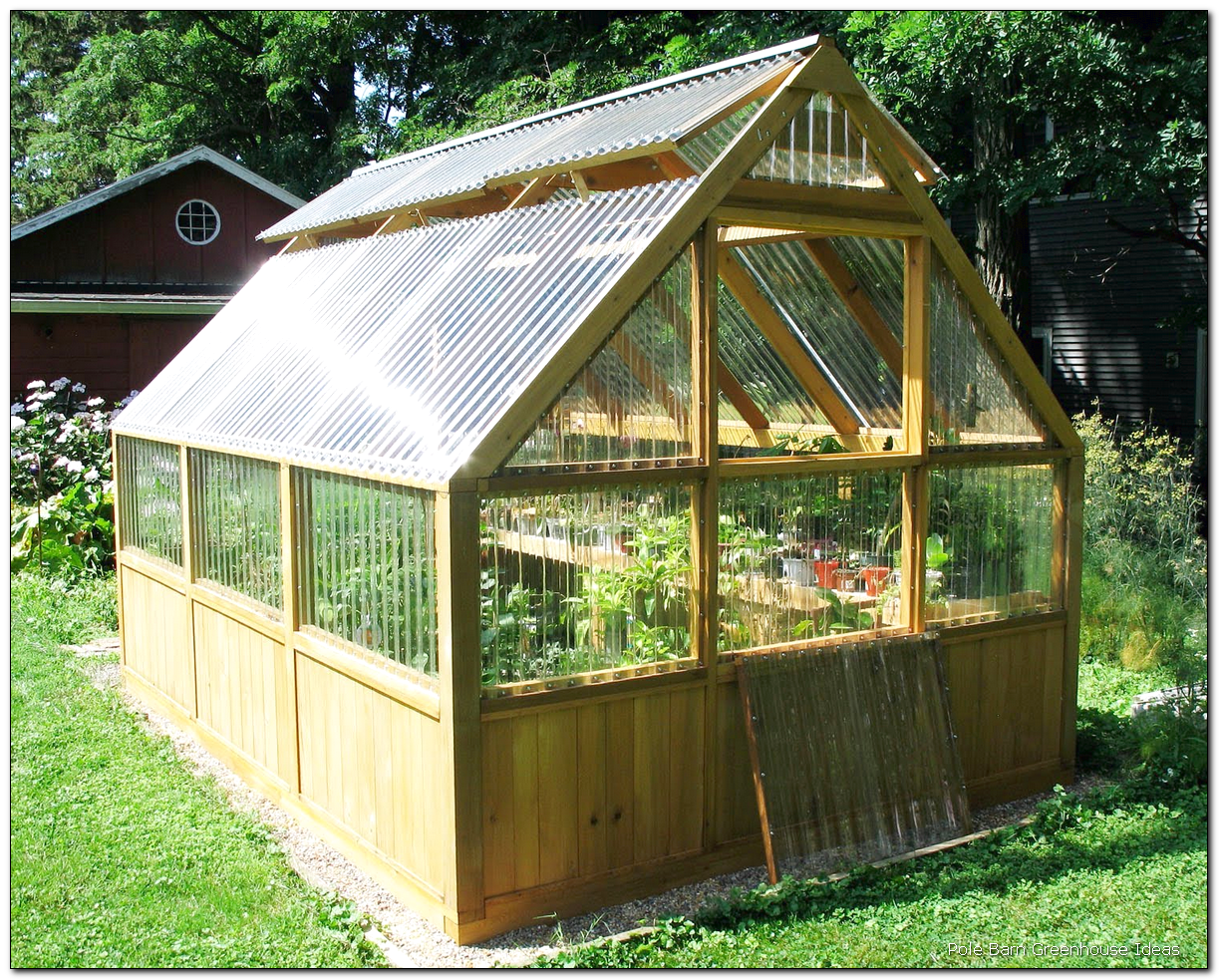 20 Pole Barn Greenhouse Ideas GHE Backyard greenhouse