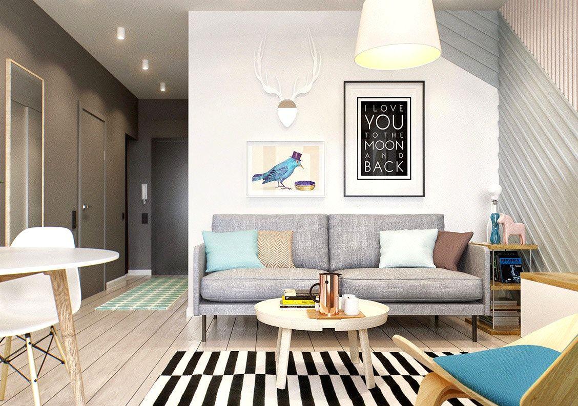 Kleines Wohnzimmer Grau