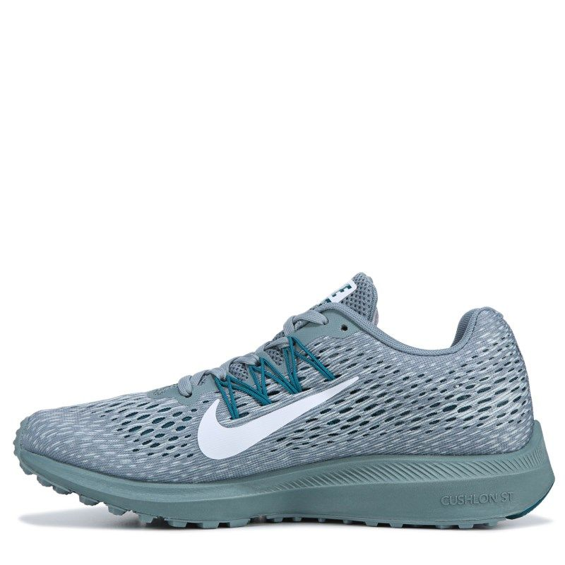 Nike Women s Zoom Winflo 5 Running Shoes (Grey   Teal) in 2019 ... 0c8f0d9afdeb