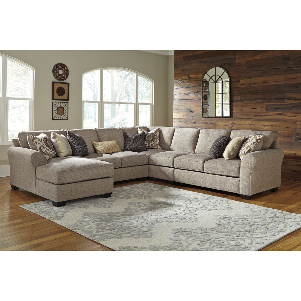 Pantomine Driftwood 5 Piece Right Chaise Sectional Slumberland Furniture In 2020 Cheap Living Room Sets Furniture Ashley Furniture #slumberland #living #room #sets