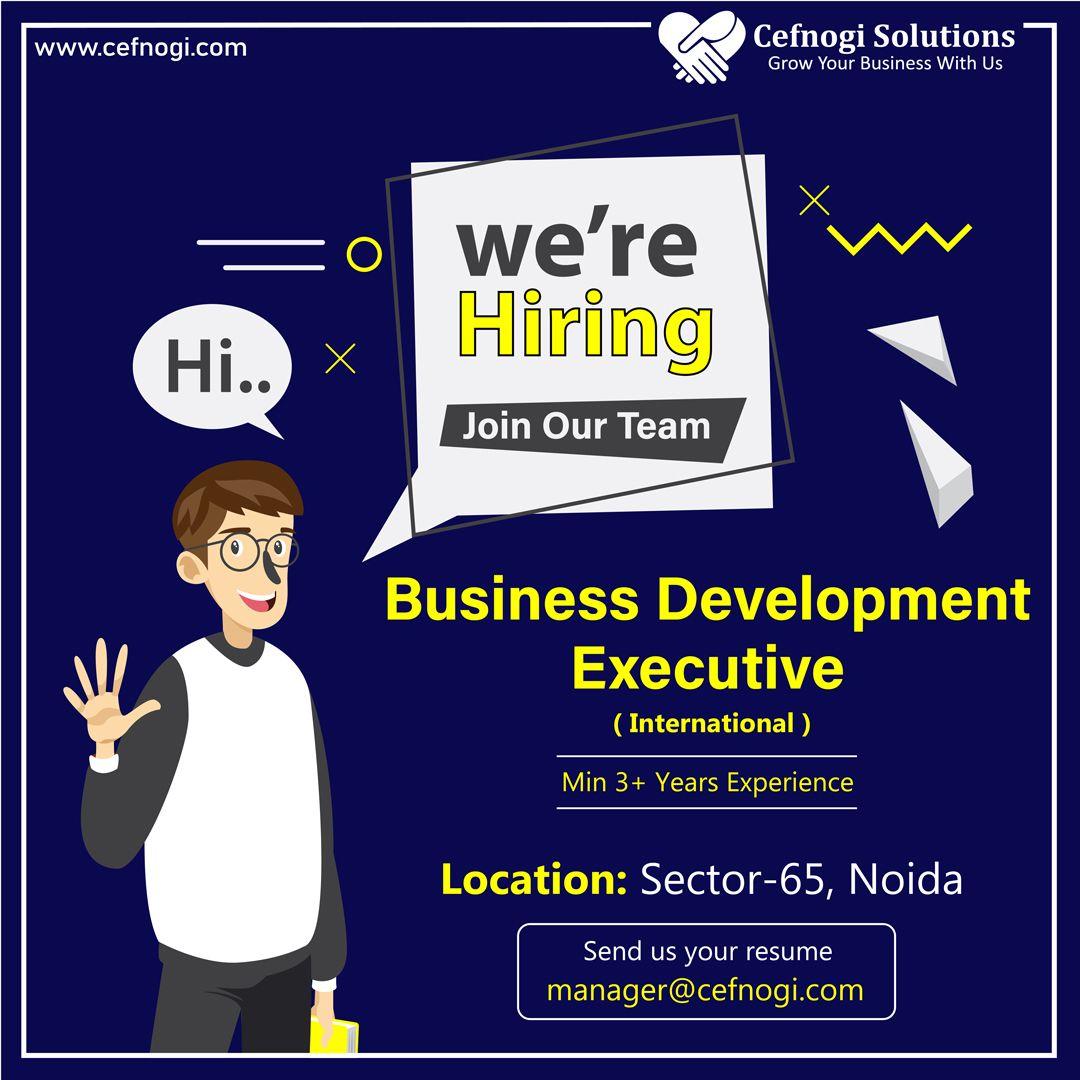 Business Development Executive Requirement Business Development Prospect Clients Development