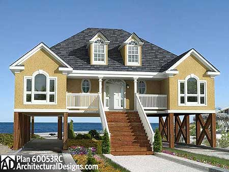 Plan 60053RC Low Country or Beach Home Plan Low country houses