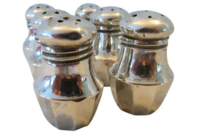 Individual Salt & Pepper Shakers, S/6