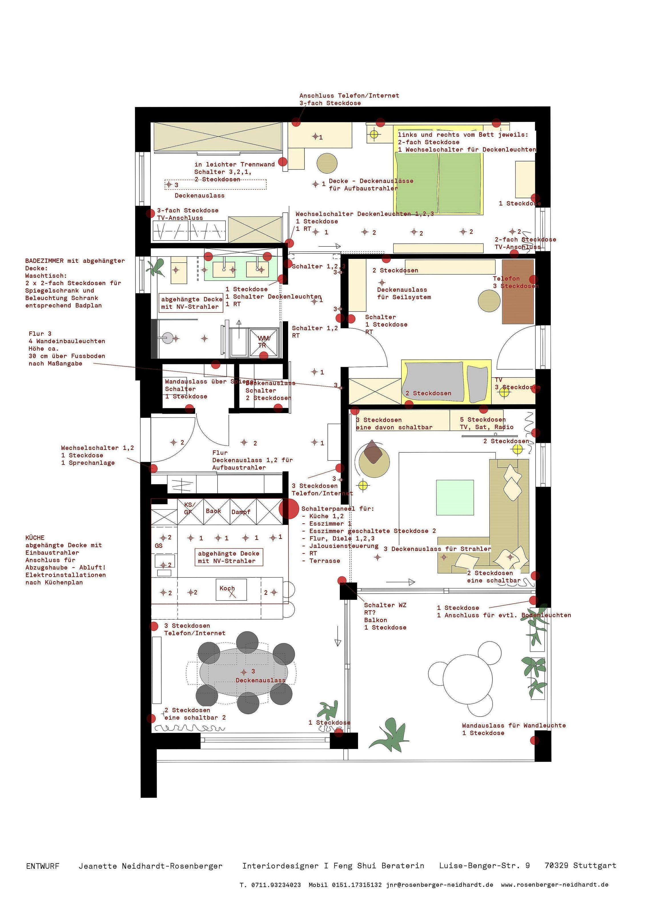 Und Wo Sollen Jetzt Die Steckdosen Und Schalter Hin Elektroinstallation Planen Steckdosen Elektroinstallation Haus