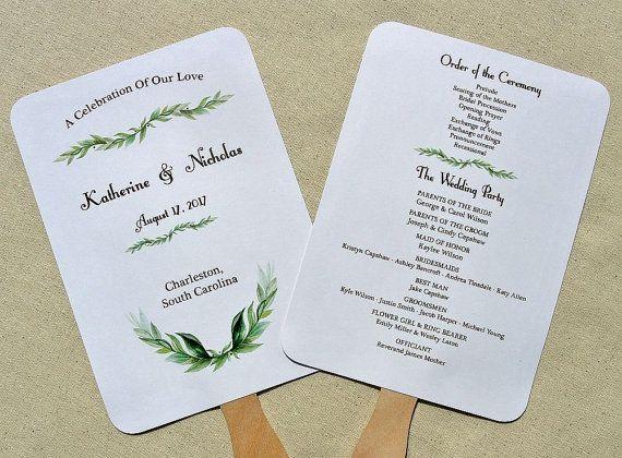 Wedding Program Fan Wedding Programs Wedding Hand Fans Etsy Wedding Fans Wedding Program Fans Wedding Programs